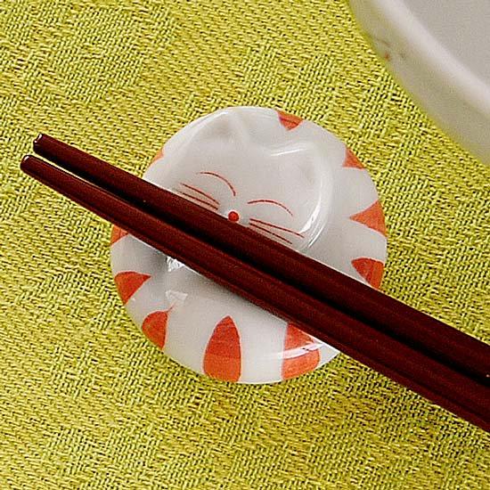 トラ猫丸(赤)箸置き