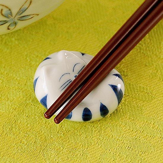 トラ猫丸(青)箸置き