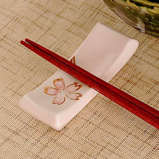 マクラ型 ピンク桜 箸置き