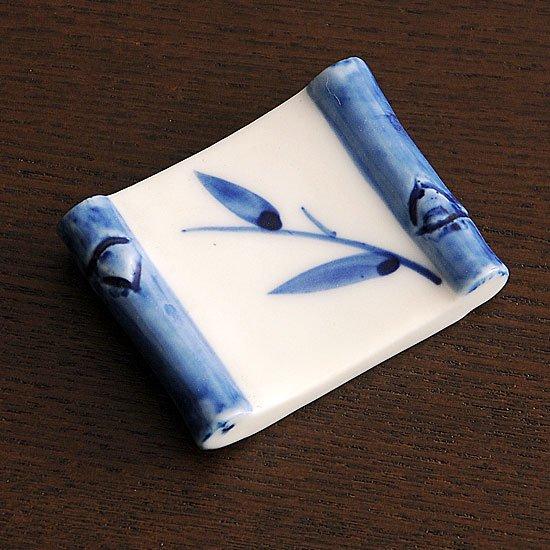竹笹角 箸置き