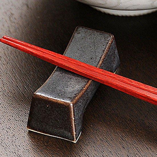 鉄結晶マクラ型 箸置き