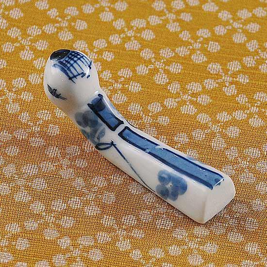 こけし(青)の箸置き