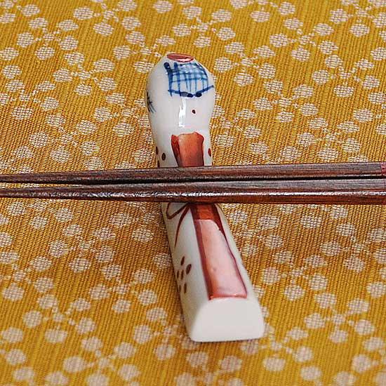 こけし(赤)の箸置き