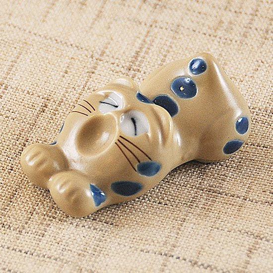 トラ猫(青)の箸置き