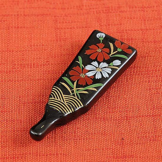 天目羽子板の箸置き コスモス