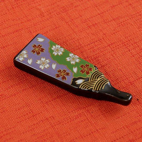 天目羽子板の箸置き 桜ふぶき