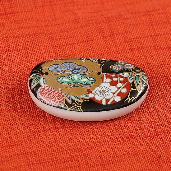 錦オーバルの箸置き 松竹梅