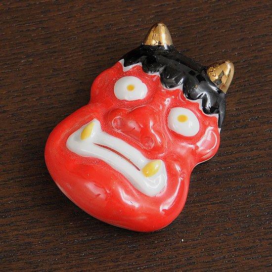上絵付鬼(赤)の箸置き