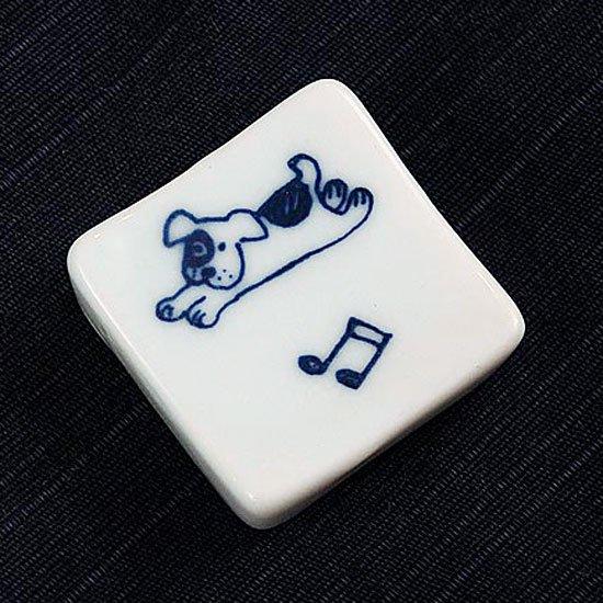 正角犬(音符)の箸置き