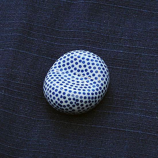 小豆 呉須柄 小紋の箸置き