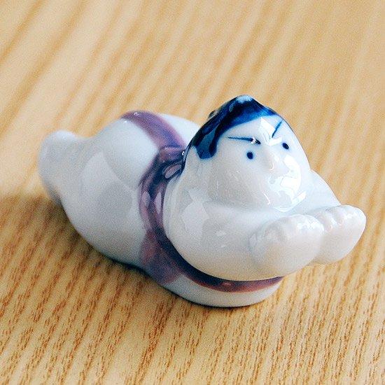 相撲(まわし紫)の箸置き