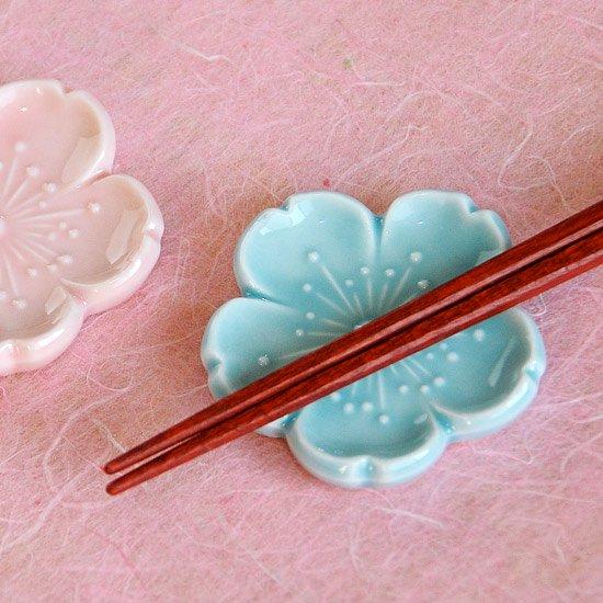 新桜(ブルー)の箸置き