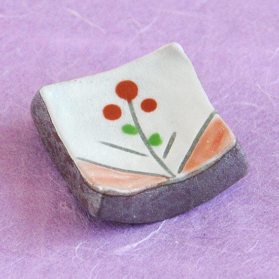 土物立花(赤)の箸置き