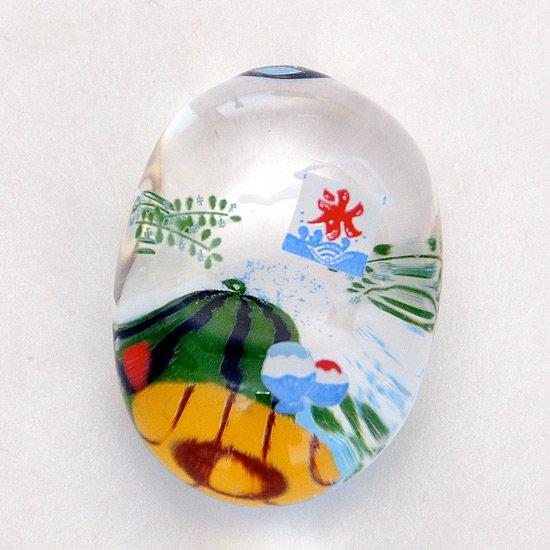 ガラスの箸置き スイカ