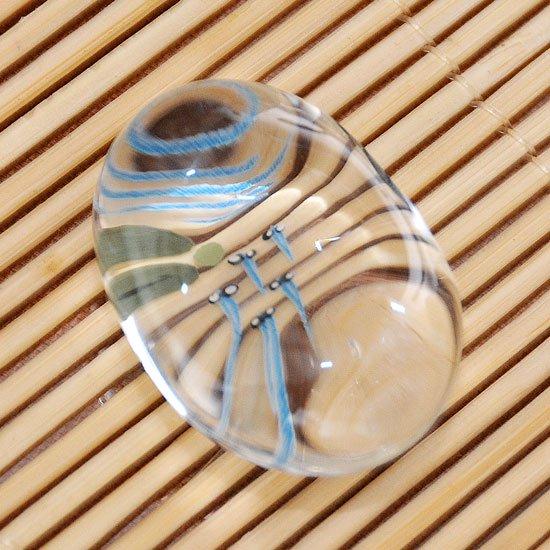 ガラスの箸置き メダカ