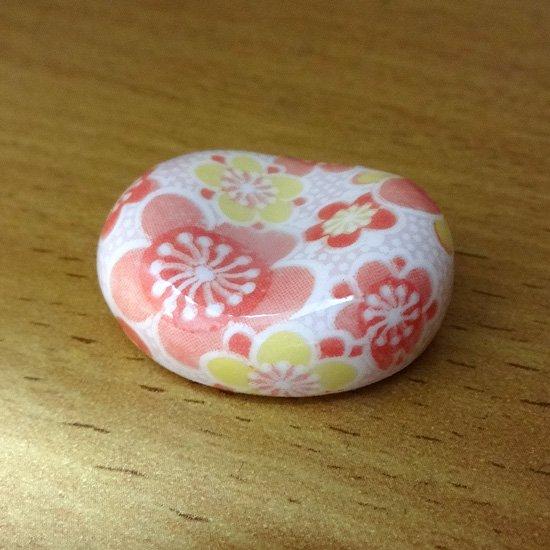小豆 色呉須柄 梅の花(赤)