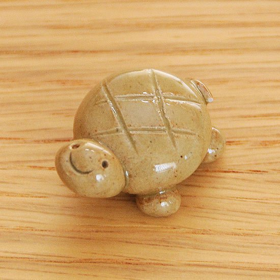手造り亀(小・薄茶)