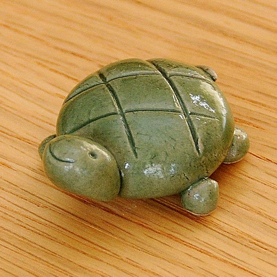 手造り亀(大・緑)