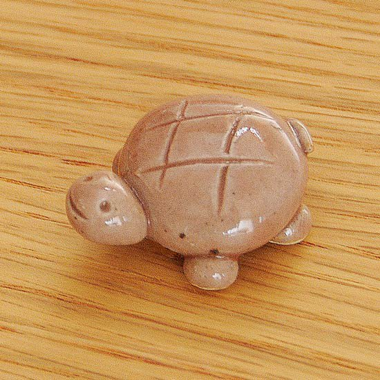 手造り亀(中・ピンク)