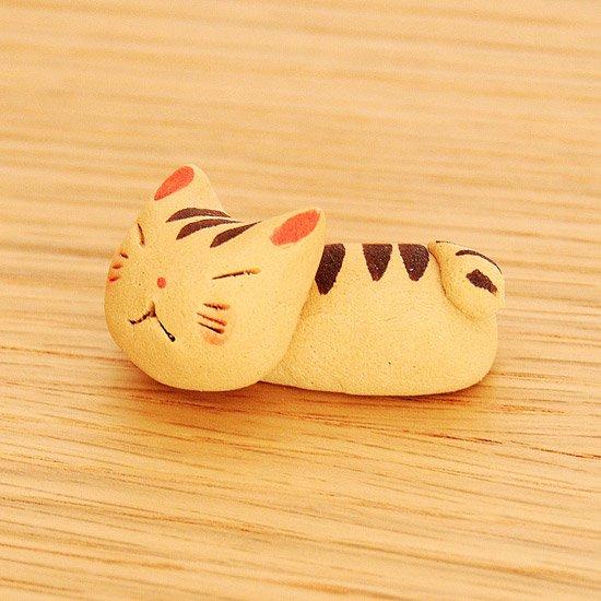 手造り猫(とら)の箸置き