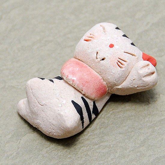 手造り招き猫(とら)の箸置き