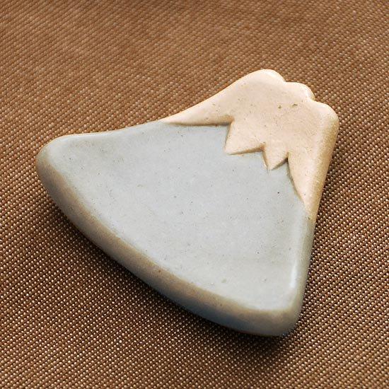 手造り富士山(水色)の箸置き