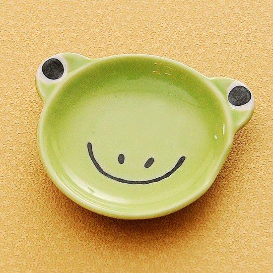 皿型アニマルフェイス(カエル)