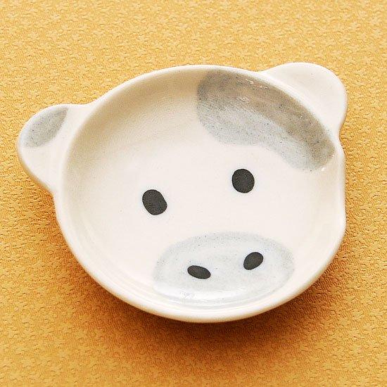 皿型アニマルフェイス(牛)