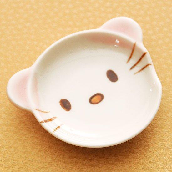 皿型アニマルフェイス(ネコ)