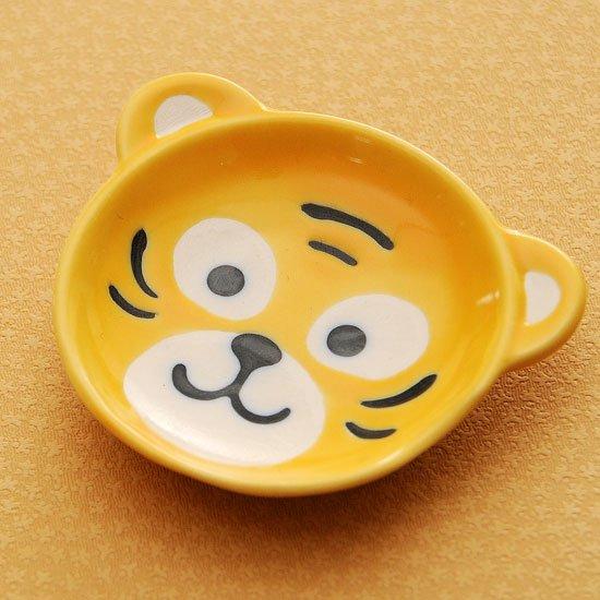 皿型アニマルフェイス(トラ)