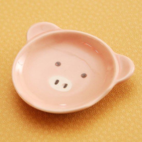 皿型アニマルフェイス(ブタ)