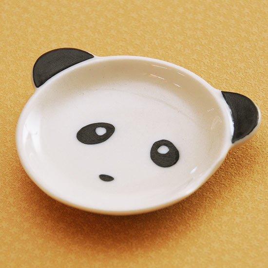 皿型アニマルフェイス(パンダ)