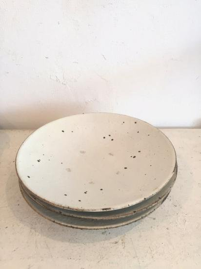 粉引き 7寸平皿