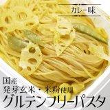 (冷凍)国県産発芽玄米・米粉使用グルテンフリーパスタ(カレー味)