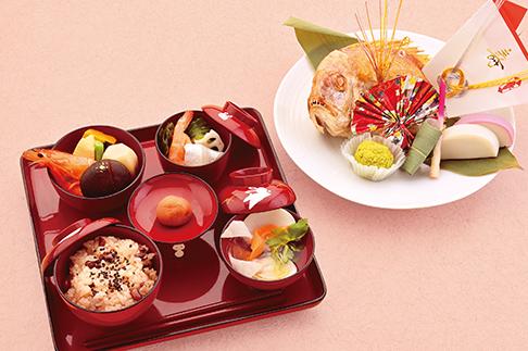 お食い初め膳(男の子用・赤色食器)※回収容器