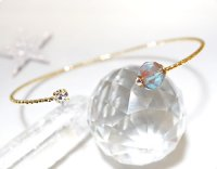 【透明サフィレット】魔法の国の宝石 妖精の魔法杖/バングル