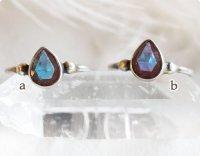 【透明サフィレット】魔法の国の宝石 ドロップSS シルバー925(10号強)/指輪 在庫2→0
