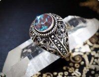 【ブルーサフィリーン】魔法の国の宝石 シルバー ラウンドS/指輪