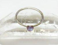 【ひとしずくサフィレット】魔法の国の宝石 夜露&シルバー 5号弱/指輪