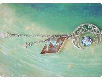 【サフィリーン&月の魔法】魔法の国の宝石 シルバー ダイヤXL/かんざし