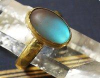 【フロスト ブルーサフィレット】魔法の国の宝石 オーバルL/指輪