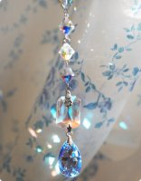 【透明サフィリーン】魔法の国の宝石&スワロフスキー オクタゴンXL(青系)/サンキャッチャー
