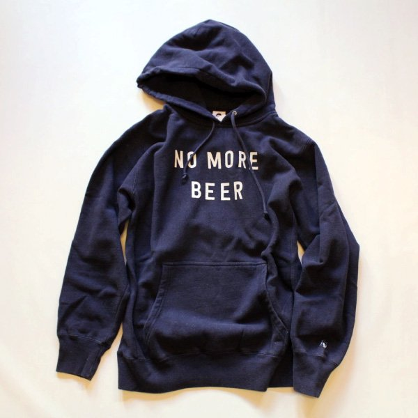 NO MORE BEER HOODIE NAVY (12oz)TACOMA FUJI RECORDS [タコマフジレコード]