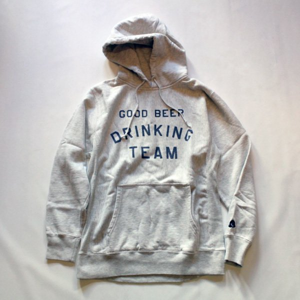 GOOD BEER DRINKING TEAM HOODIE OATMEAL (12oz)TACOMA FUJI RECORDS [タコマフジレコード]