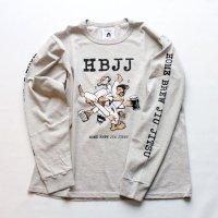 HBJJ (HOME BREW JIU JITSU) LS shirt OATMEAL<br>TACOMA FUJI RECORDS タコマフジレコード