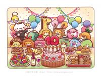 マウスパッド 10周年記念パーティー柄