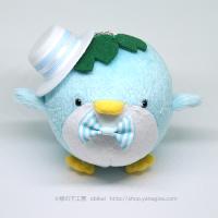 おめかしエコペンブルー(水色ストライプ帽子)