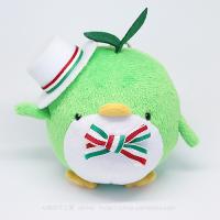 おめかしエコペン緑(白帽子緑白赤リボン)