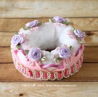 エコペンケーキクラウン(ピンク紫薔薇)