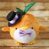 おめかしエコペンオレンジ(黒帽子紫リボン)